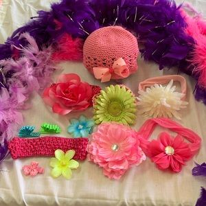 Other - EUC Lot of Baby Girl Hair Bows & Headbands